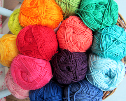 Planet Penny Cotton Yarn rainbow colours