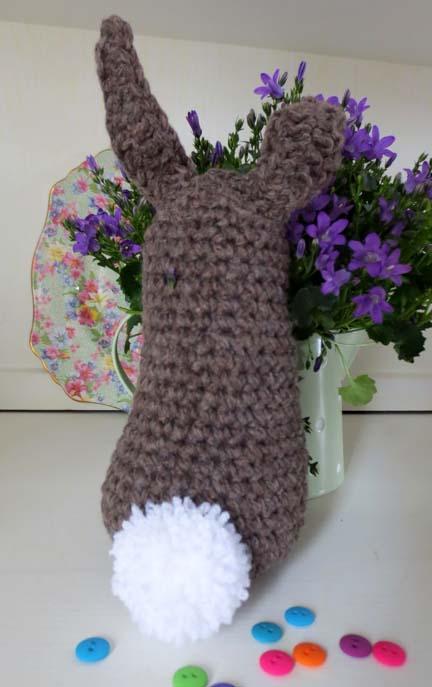 big spring crochet bunny