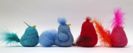Feather and Needlefelt birds