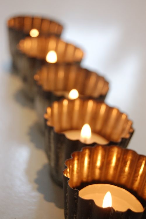 jelly mold tea light holders