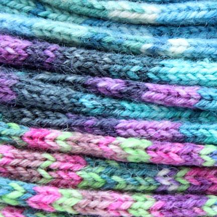 knitting socks - yarn