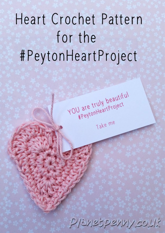 Crochet Heart Pattern for #PeytonHeartProject