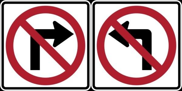 no right no left