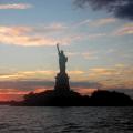 Statue of liberty twilight