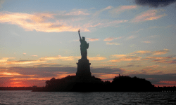 Statue of liberty twilight