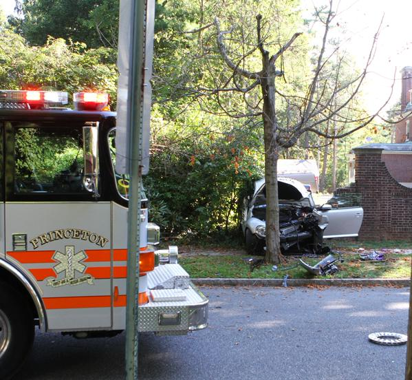 The scene at the crash. Photo: Seth Callen.