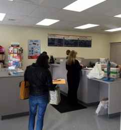 The counter at the new Princeton post office on Nassau Street.