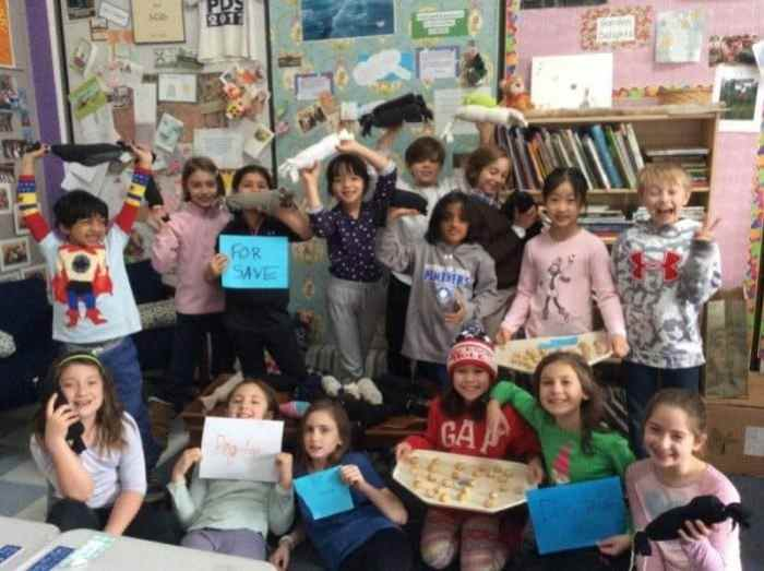 Princeton Day School participated in a schoolwide day of service to honor the legacy of Dr. Martin Luther King, Jr. on Jan. 15. The PDS 3rd grade class made dog toys and dog treats for local animal shelter SAVE. The dog toys were created from recycled water bottles and leftover socks.