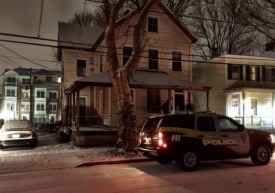 The house on Green Street where a woman was sexually assaulted Friday night.
