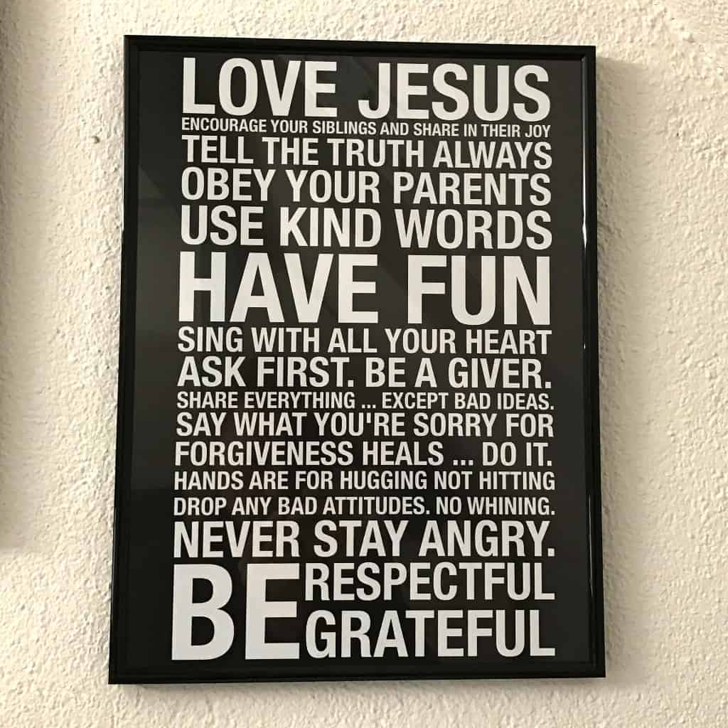 Poster Im Rahmen Poster Quotlove Jesus Encourage Your Siblings To Share In