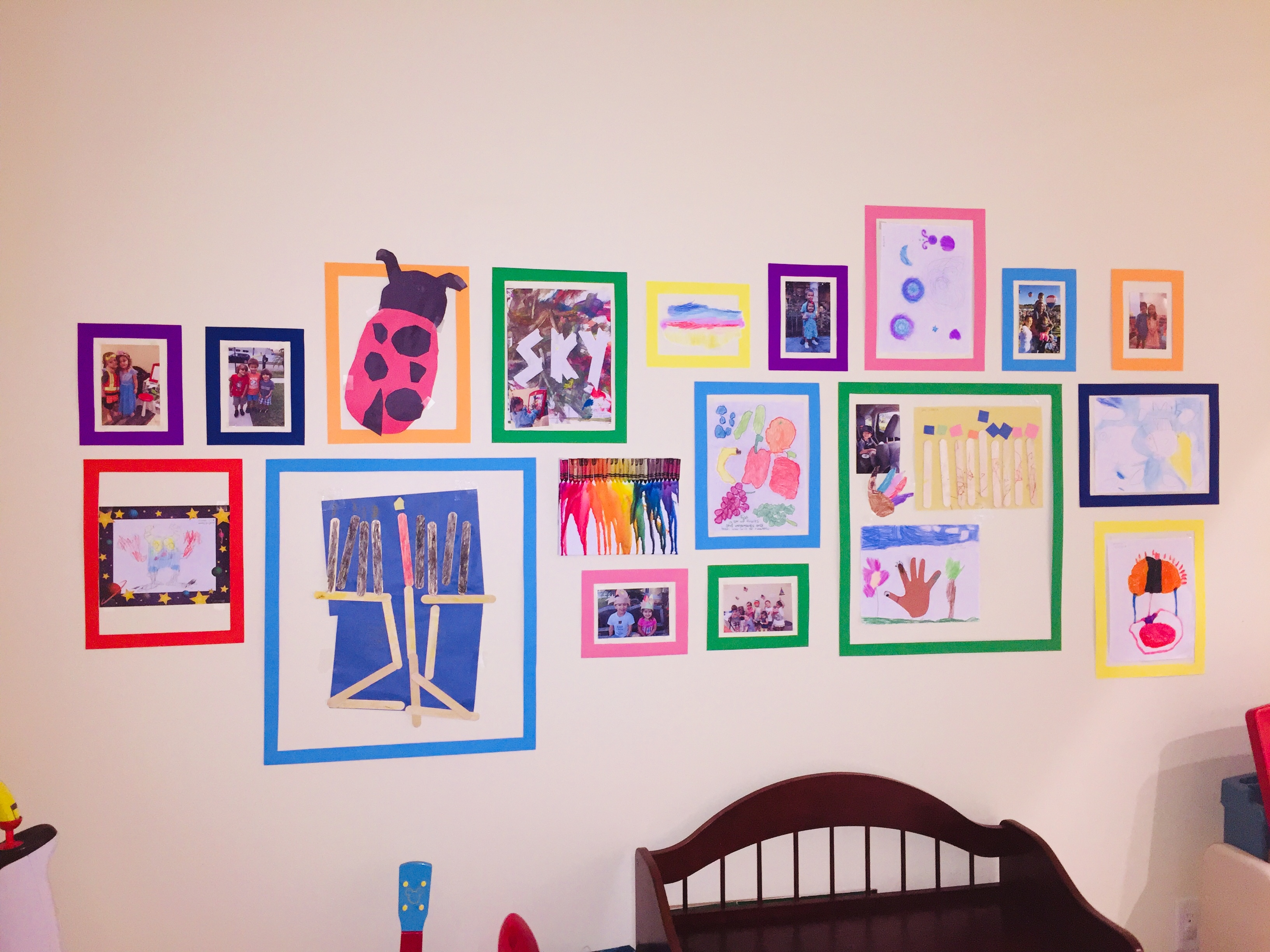 Art Wall Diy Interchangeable Children S Art Wall Display