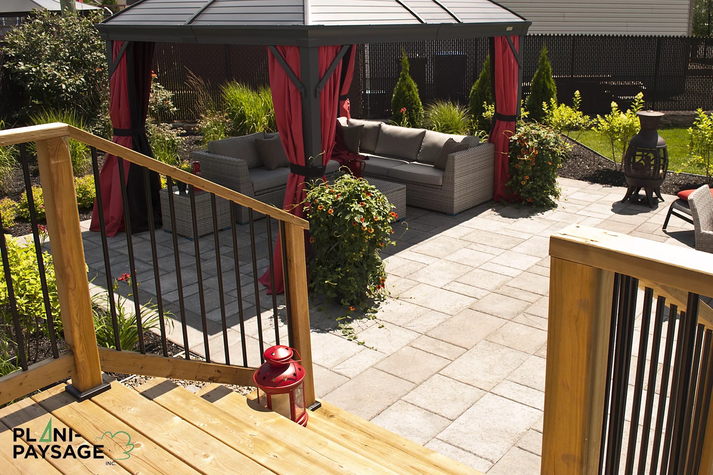 Amenagement Terrasse Bois Et Pergola Terrasse En Bois Sur Patio En Dalle