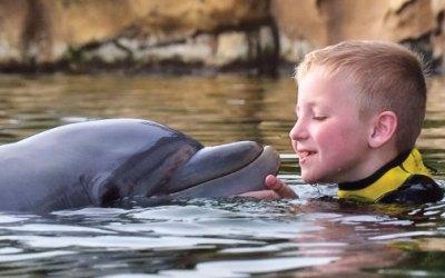 Jack, 8 – A Trip to Disneyland Florida to Swim with Dolphins.