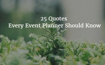 25 Quotes Every Event Planner Should Know