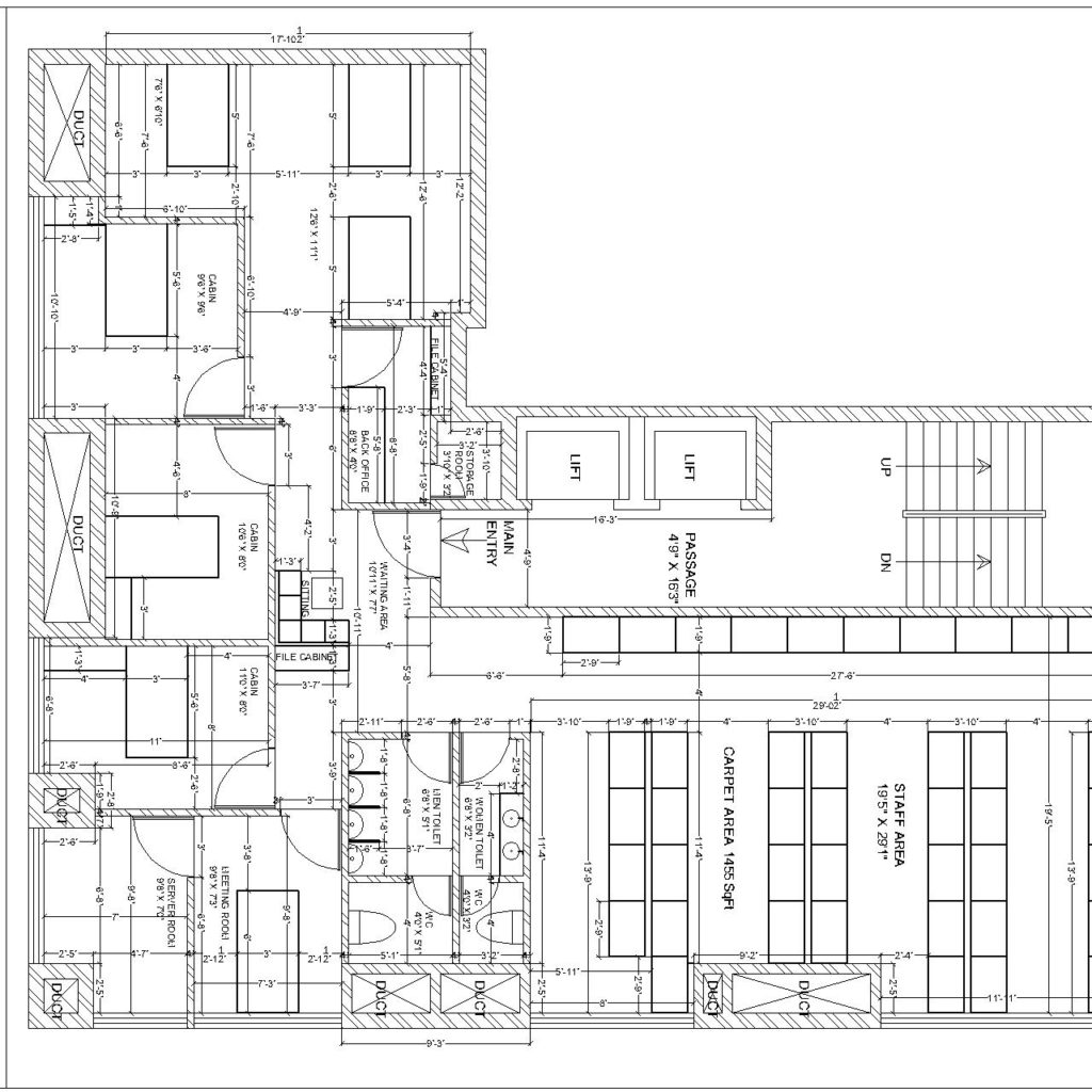 Office Plans Interior Plan Of It Office Cad Files Dwg Files Plans And Details