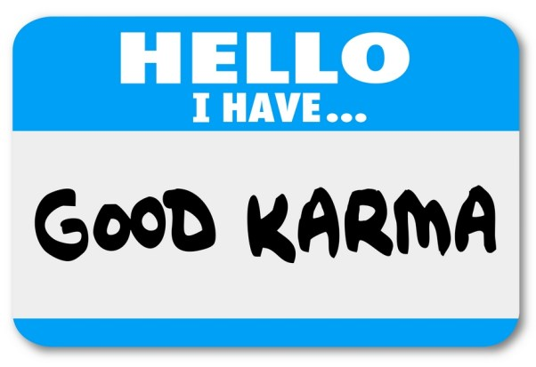 Good Karma Name Tag Sticker Luck Fate Meet Person Introduction