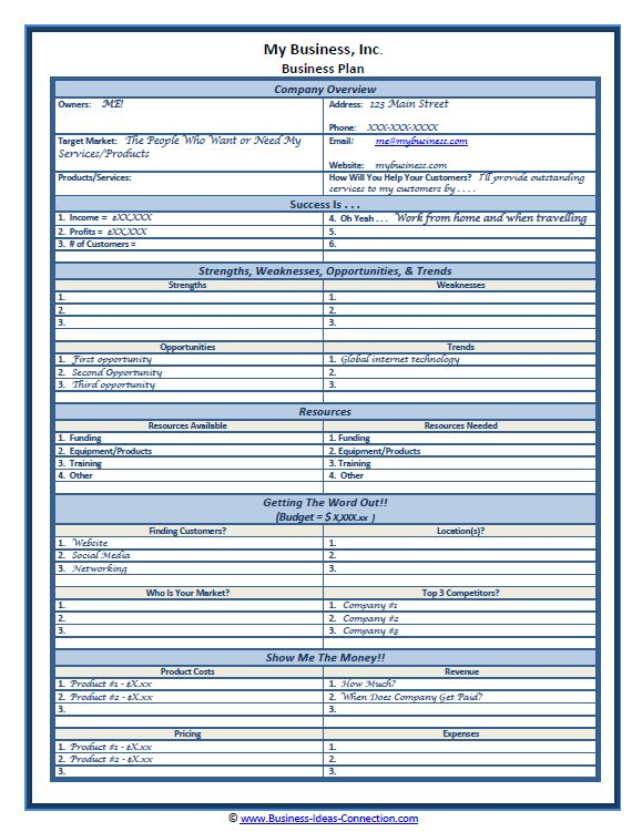 cell phone-business-plan-template - Business Plans Template