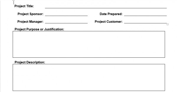 Project Charter Template - Planning Engineer Est - project charter template