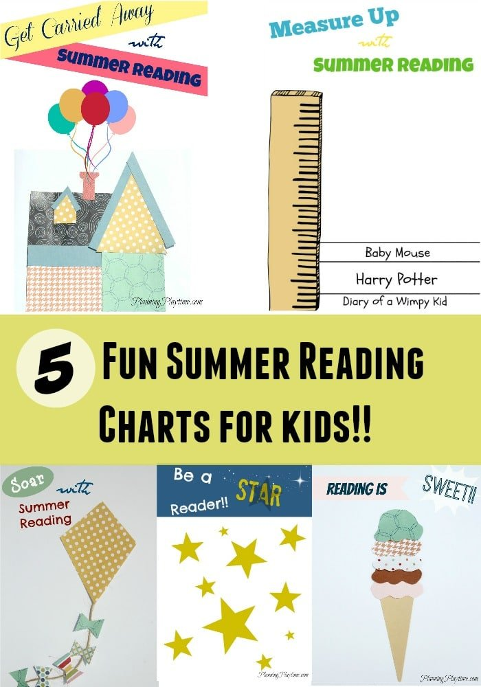 5 Fun Summer Reading Charts for Kids - Planning Playtime
