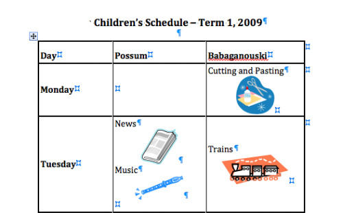 Creating A Children\u0027s Timetable Planning With Kids