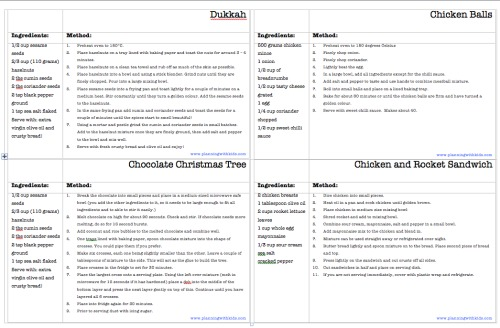 Recipe Card Template and Recipe Booklet Planning With Kids - free recipe card templates for word