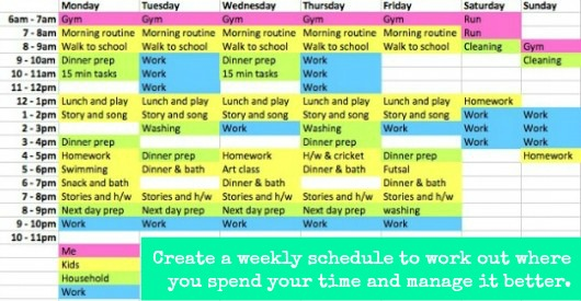 Writing Down Your Week Planning With Kids