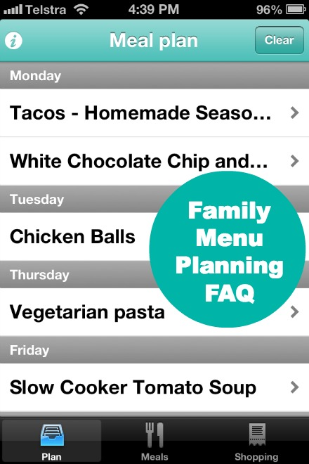Family Menu Planning FAQ and Monthly Menu Plan Planning With Kids