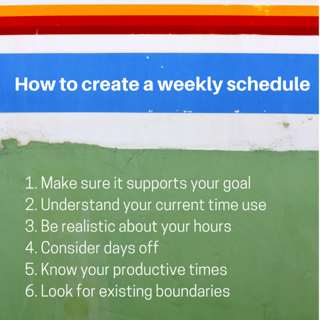 How to create a weekly schedule Planning With Kids