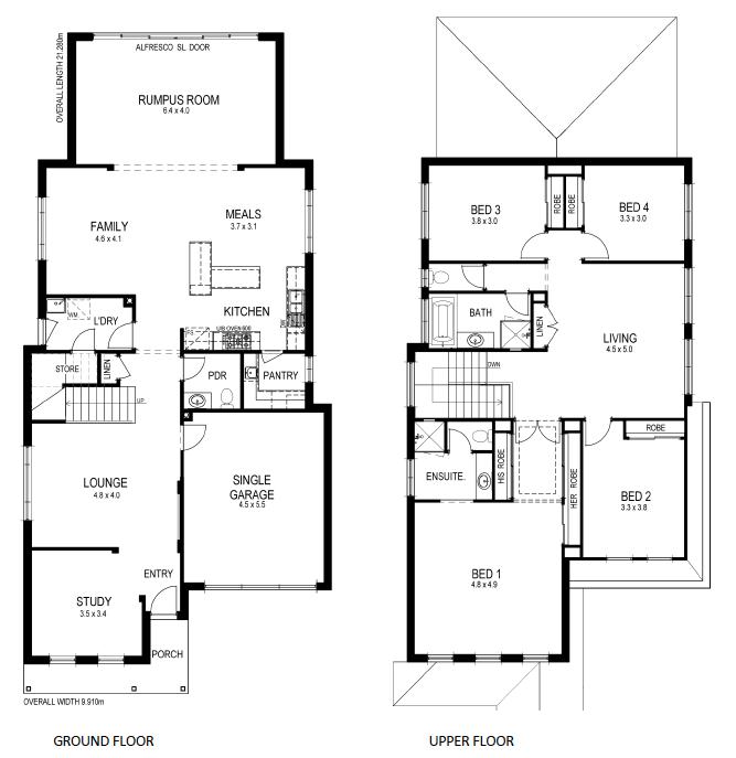 15 planos de casas peque 241 as de dos pisos planos y narrow home designs sydney the best narrow block home