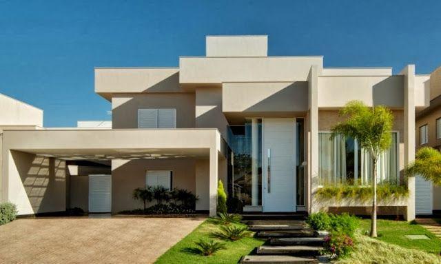 24 fotos de fachadas de casas modernas planos y fachadas for Modelo de casa con terraza