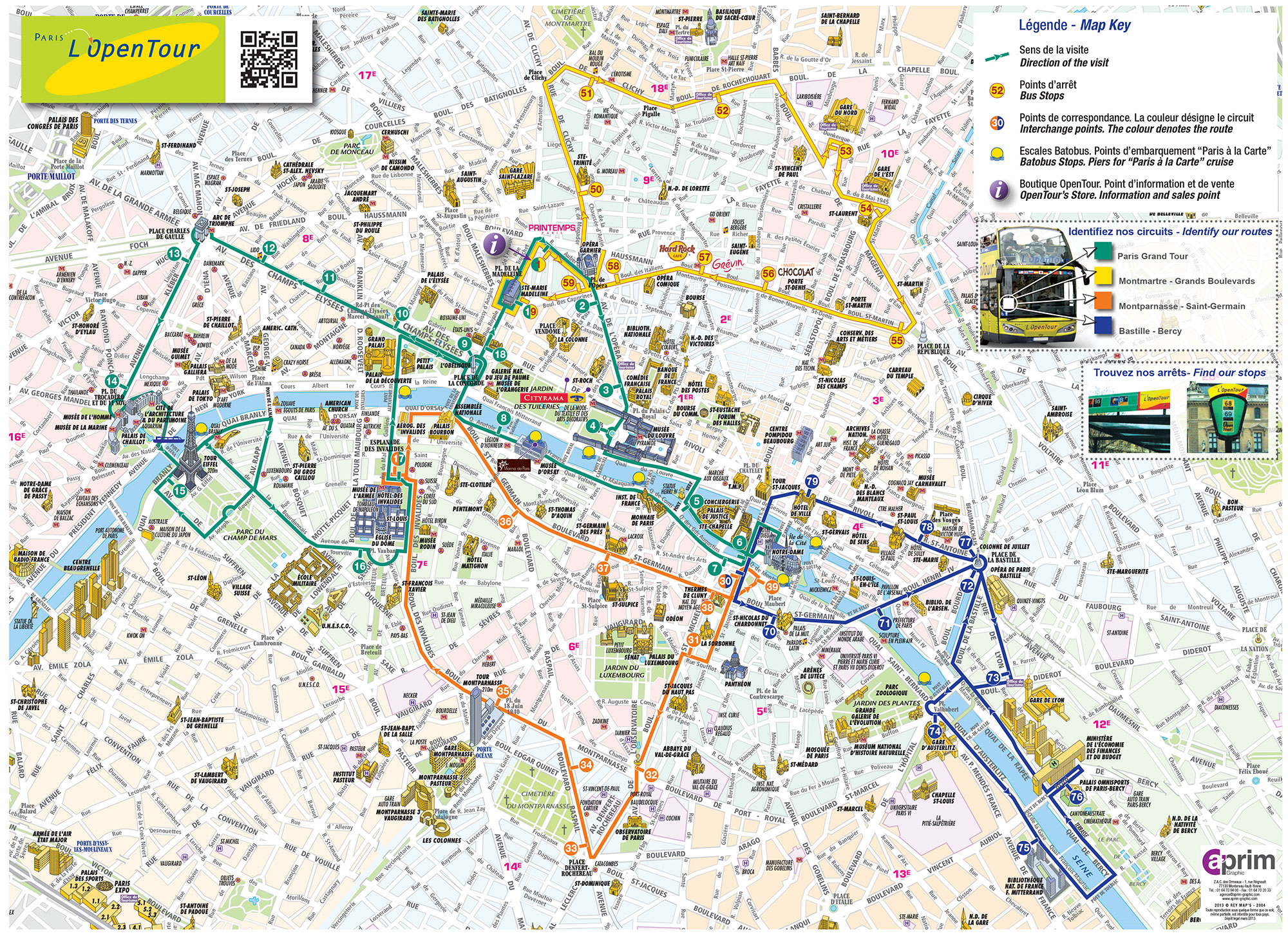 Paris Office Du Tourisme Plan Et Carte Touristique De Paris Monuments Et Circuits