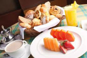 Mamão na refeição matinal