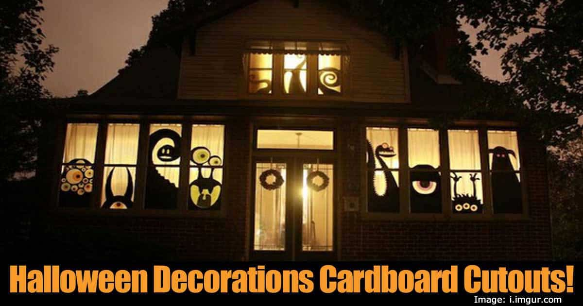 Halloween Decorations Cardboard Cutouts!