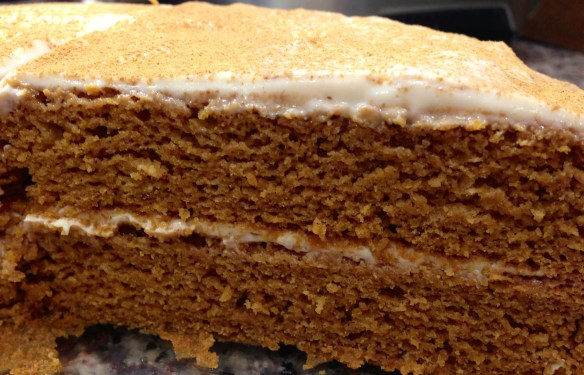Cake version. I dusted the top with cinnamon.