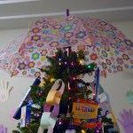 Donations for the Mustard Seed School served double duty as ornaments on the third floor at CDFA headquarters.