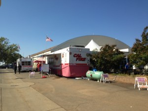 Cal Fire has set-up a command center for the King Fire at the El Dorado County fairgrounds.