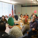 Employees of CDFA's Pest Exclusion office at headquarters gathered to celebrate the holidays.
