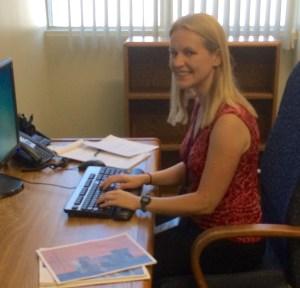 UC Davis graduate student and CDFA ELIPPS intern Kelly Gravuer.