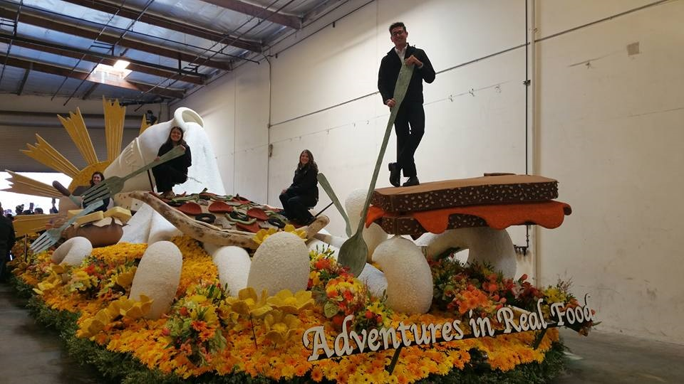 "The California Milk Advisory's Rode Parade float, ""Adventures in Real Food."
