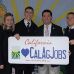 Assemblymember Timothy Grayson with FFA members promoting the Cal Ag Plate license plate program supporting agricultural education programs.