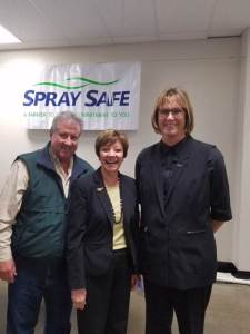 CDFA Secretary Karen Ross (center) with Santa Barbara County agricultural commissioner Cathy Fisher and Santa Barbara County Farm Bureau president Kevin Merrill