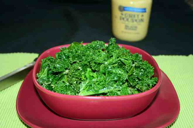 Garlicky Dijon Kale