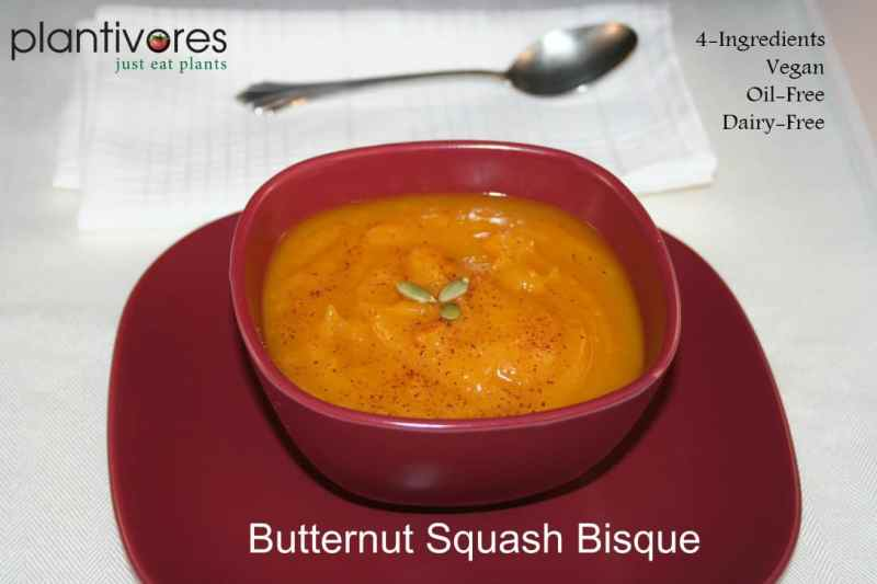 4-Ingredient Butternut Squash Bisque