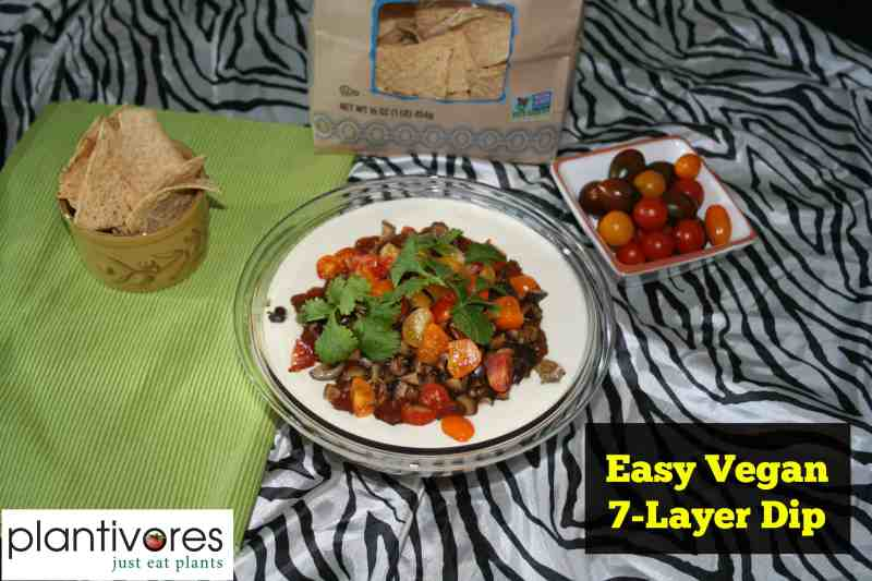 Easy Vegan 7-Layer Dip (Oil-free, Gluten-free)