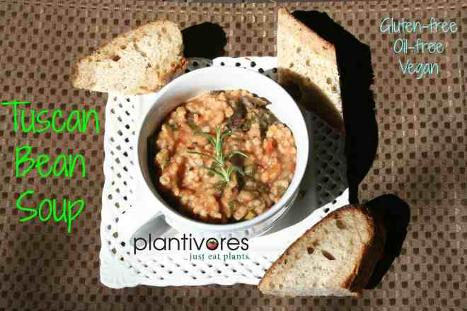 Tuscan Bean Soup | Vegan, Oil-free, Gluten-free | Plantivores