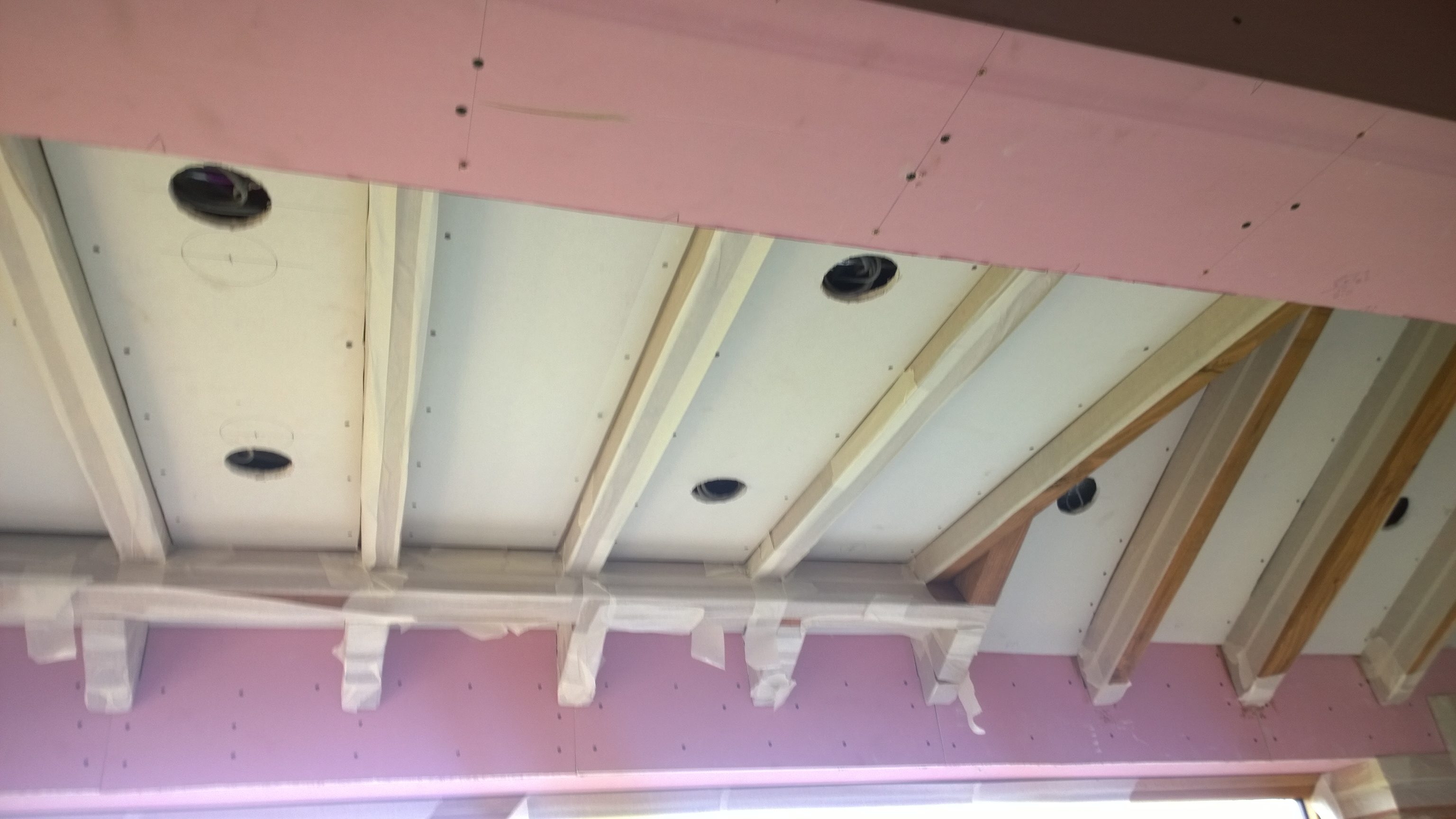 Roze Gipsplaat Which Plasterboard And How To Enclose Steel Beams The