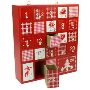 wooden advent calender