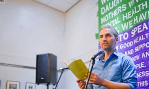 Antony R Owen reading at the first KALEJDOSKOP micro-festival. Coventry, UK. June 2015. Photo by  Marcin Szymczak