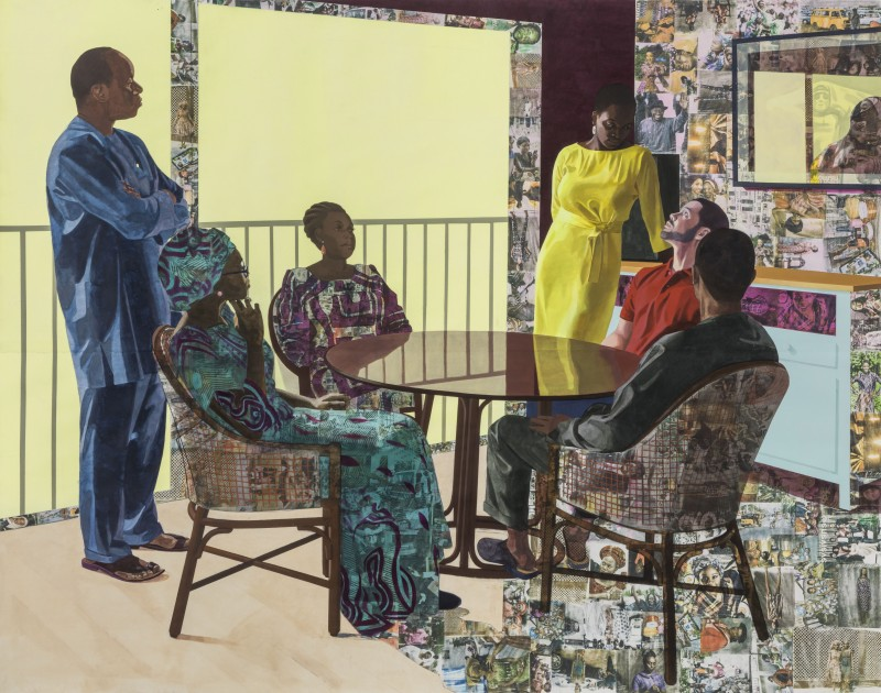 Njideka Akunyili Crosby, I Still Face You 2015