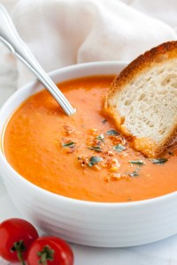 Creamy Roasted Tomato Soup with Basil | Plated Cravings